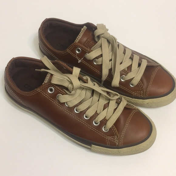 Converse All Star Brown Leather Shoes. Size 8.5